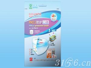 PM2.5日用防護口罩立體成人款(帶呼吸閥)