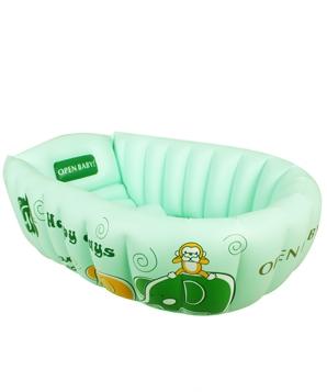 欧培温馨小象婴儿浴盆绿色