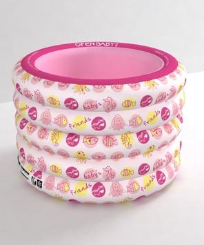 欧培动物朋友圆形游泳池粉色