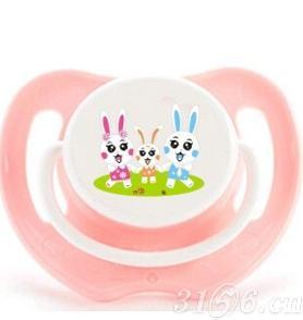 阳光兔安抚奶嘴三阶段粉色