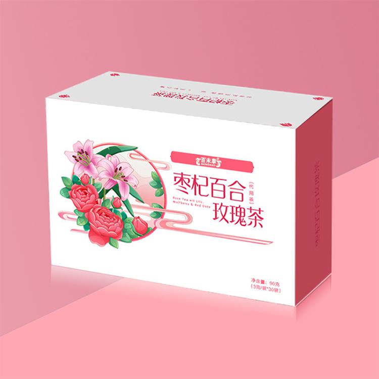 枣杞百合玫瑰茶